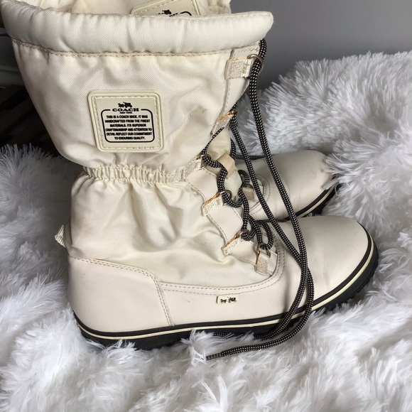 Coach Winter Laced Up Boots
